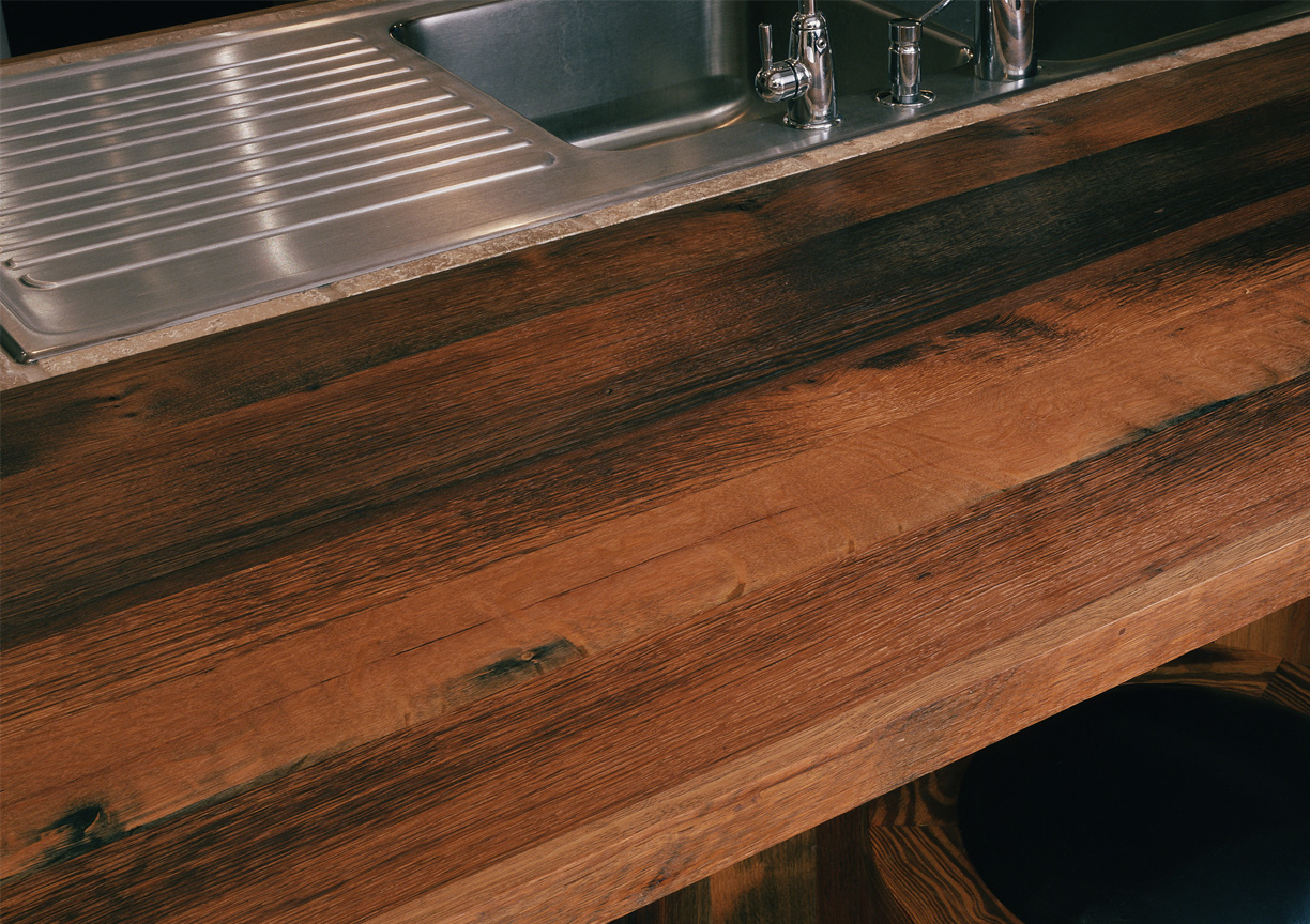 Reclaimed Wood Countertops : Reclaimed antique wood countertops mountain lumber company