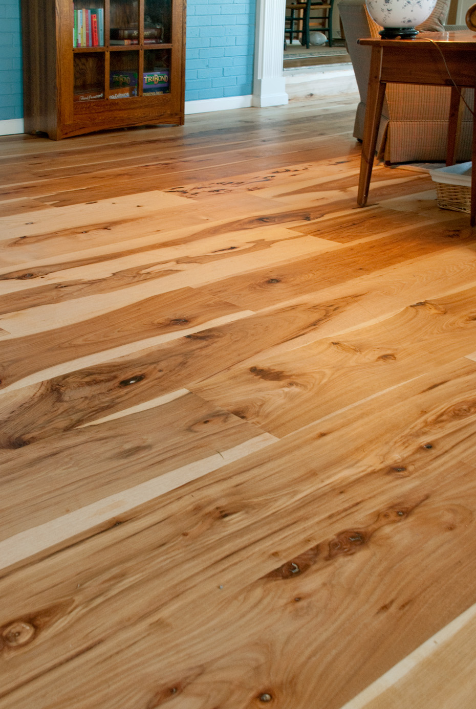 Harvest hickory flooring mountain lumber for Floor to floor
