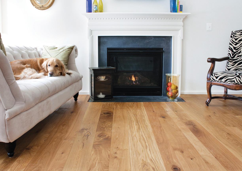 Finishing Oak Floors : Character White Oak Flooring