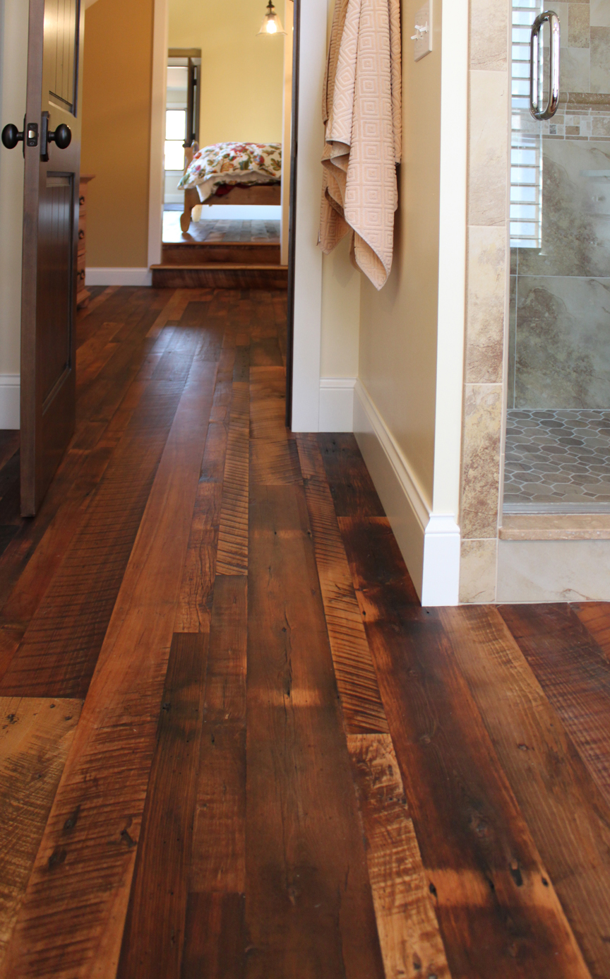 Reclaimed antique flooring homestead distressed for Recycled hardwood floors