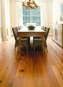 Hermitage Reclaimed Heart Pine Flooring- Dining