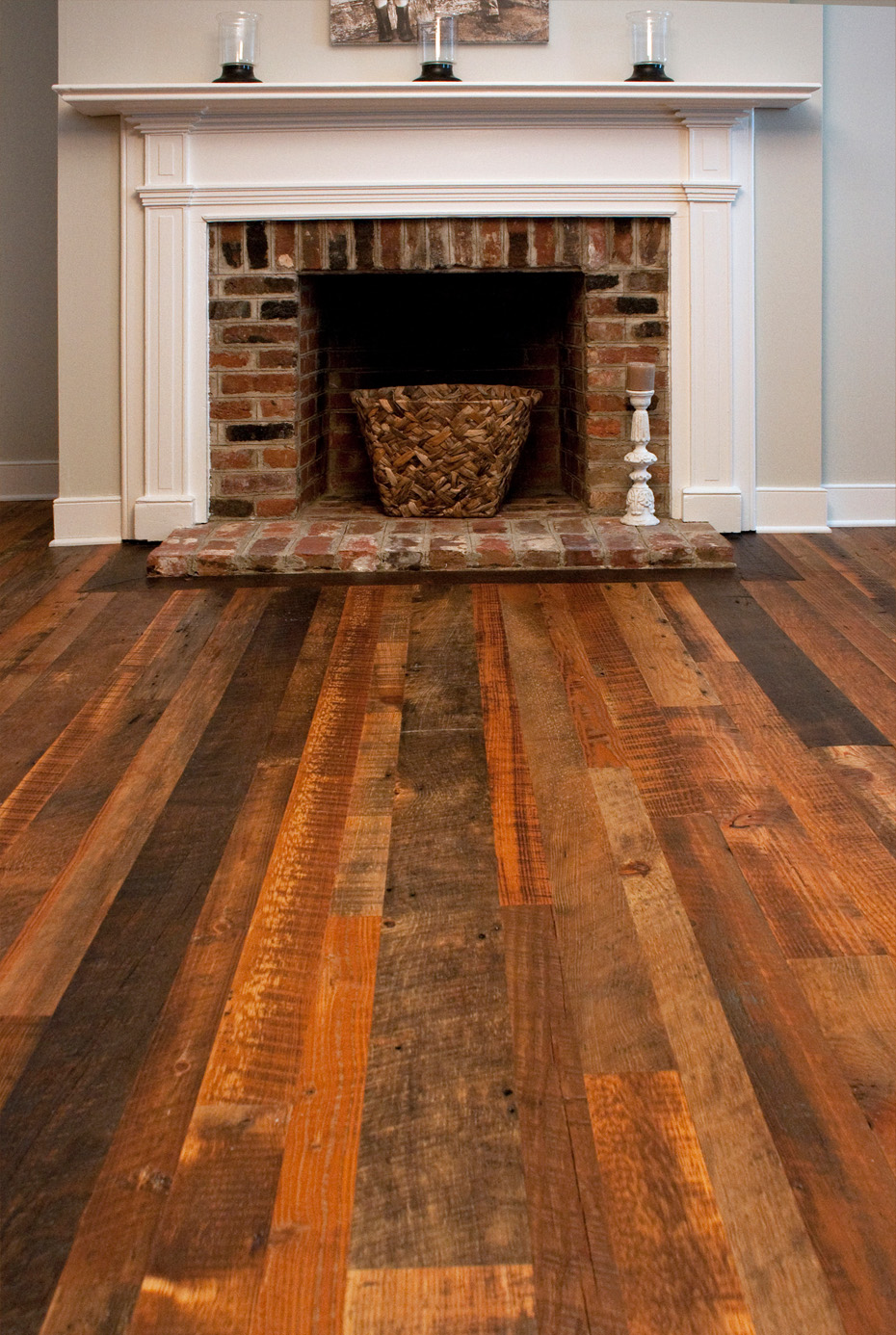 Distressed reclaimed antique heart pine flooring Salvaged pine flooring