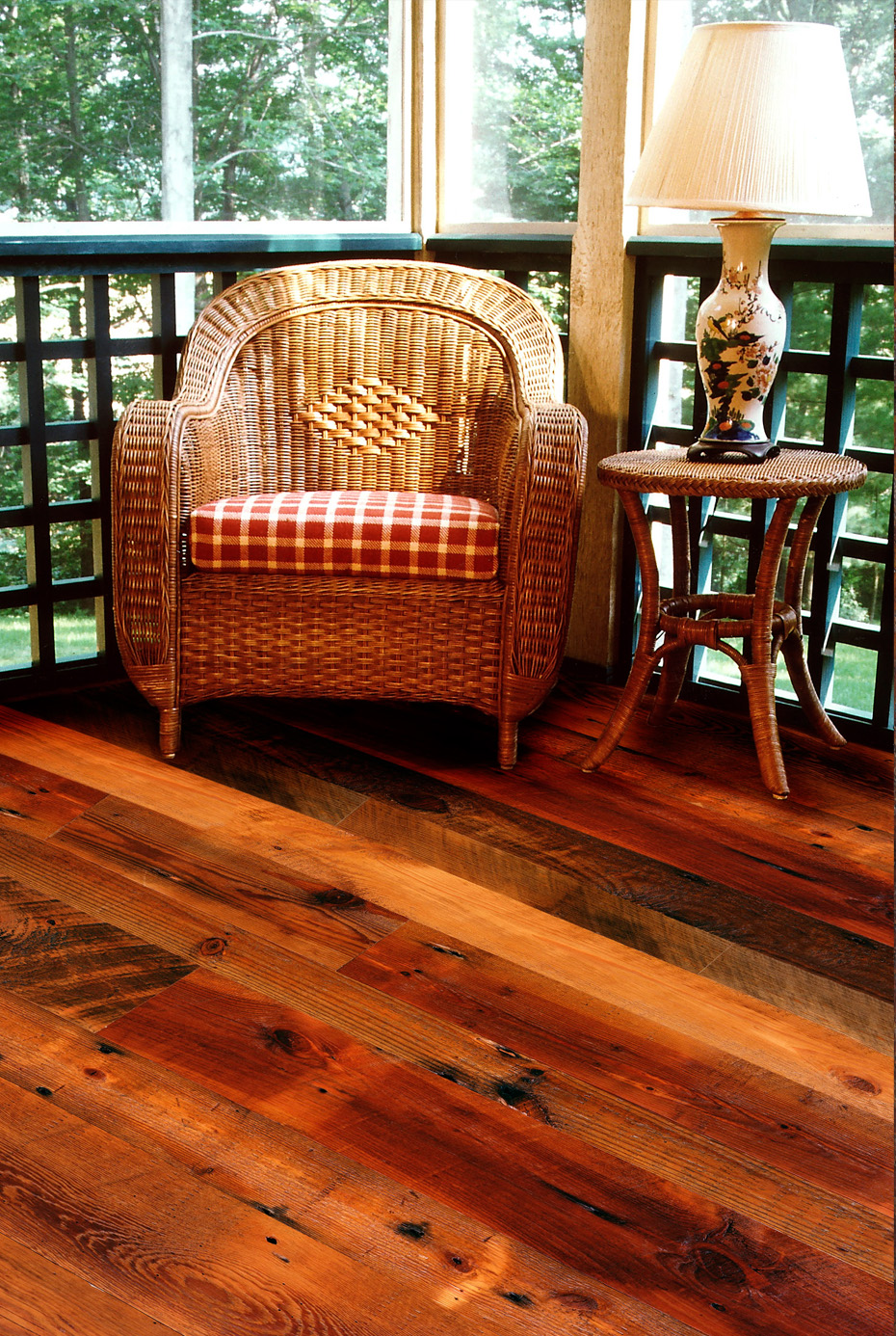 Distressed Reclaimed Antique Heart Pine Flooring
