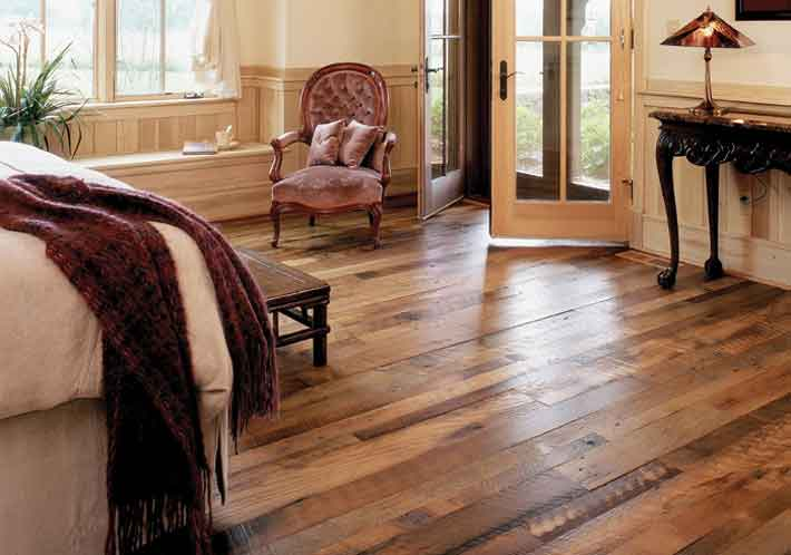 Mountain lumber company reclaimed wide plank flooring for All floors