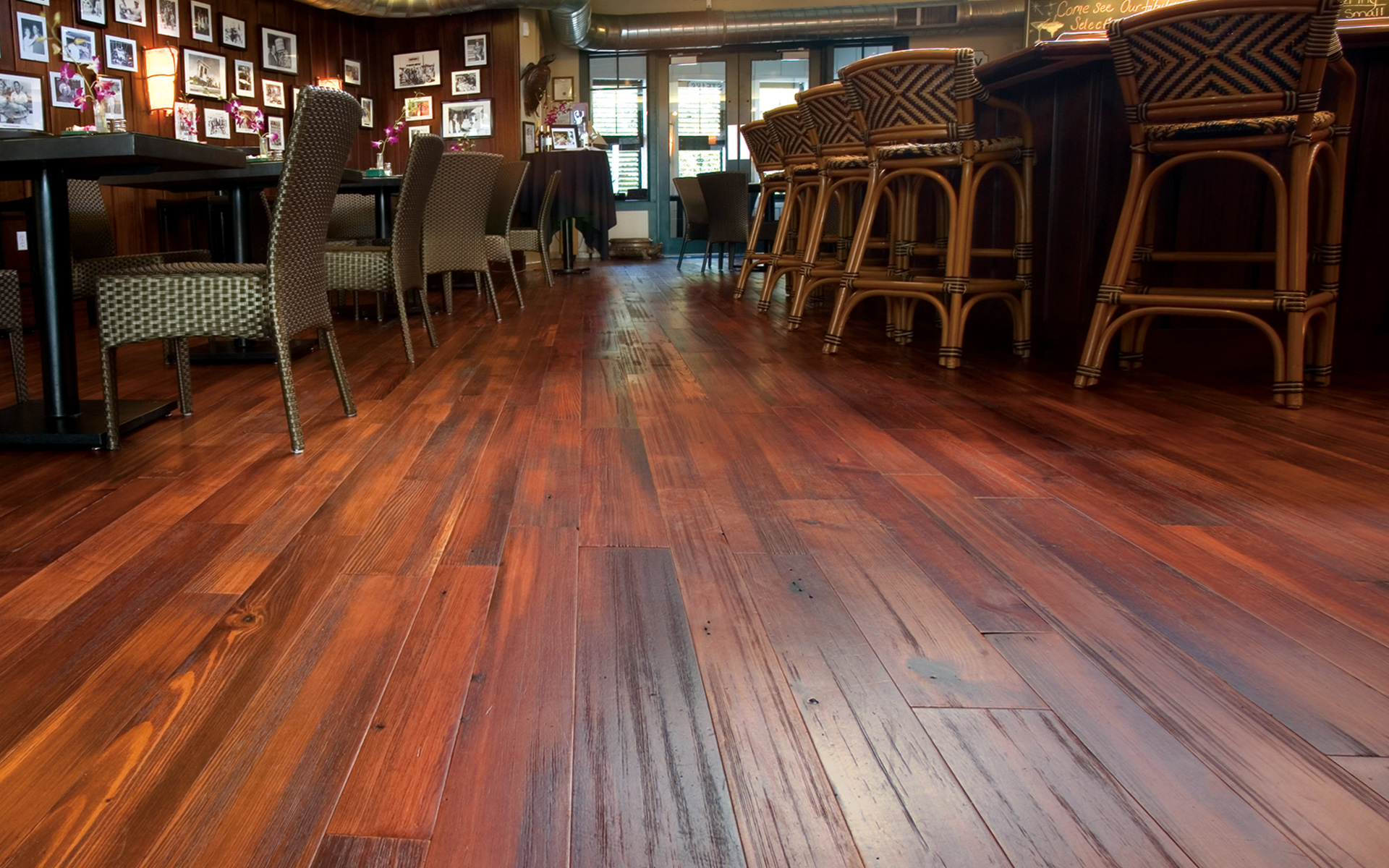 Mountain lumber company reclaimed wide plank flooring for Recycled hardwood