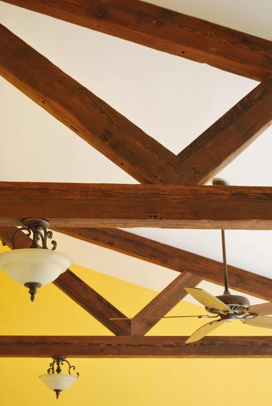 Reclaimed antique beams mountain lumber company for Salvaged timber beams