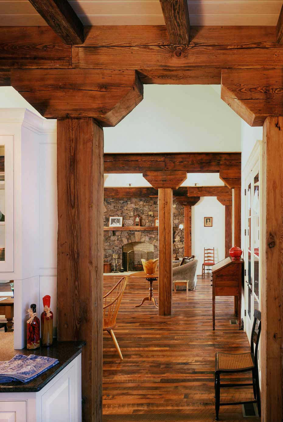 Gallery mountain lumber company for Salvaged timber beams