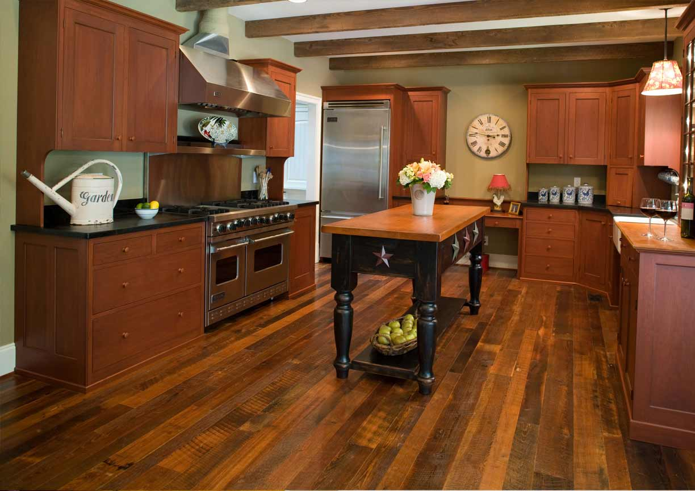 Distressed Reclaimed Antique Heart Pine Flooring