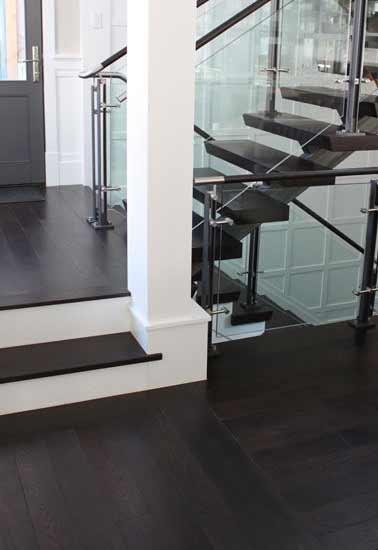 Select White Oak Flooring with Dark Custom Finish