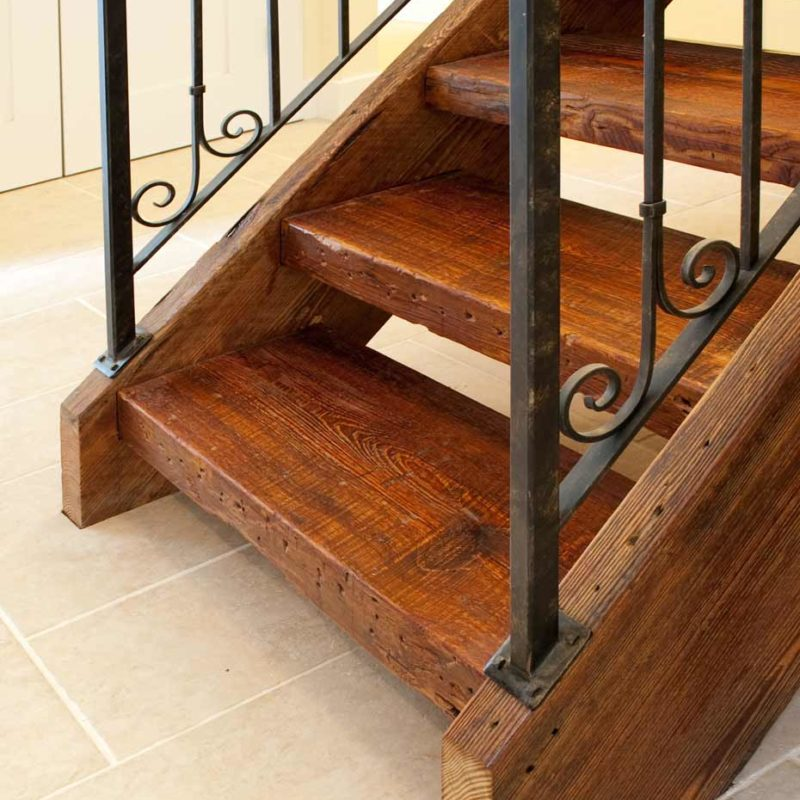 Reclaimed Beam Stair Treads