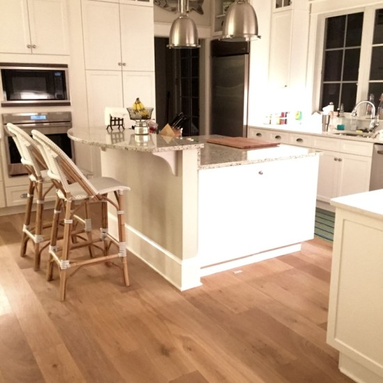 Custom Finished Character Grade White Oak Flooring