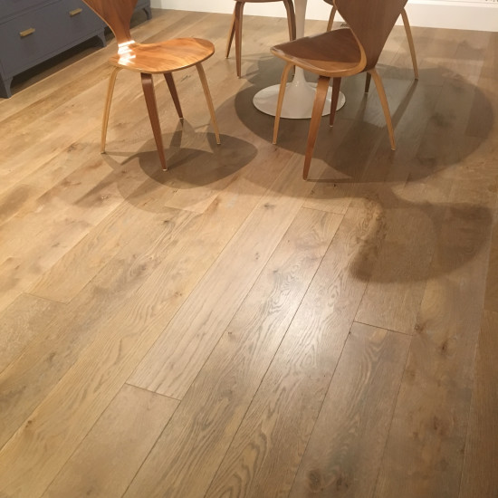 Medium Custom Finished Character Grade White Oak Flooring