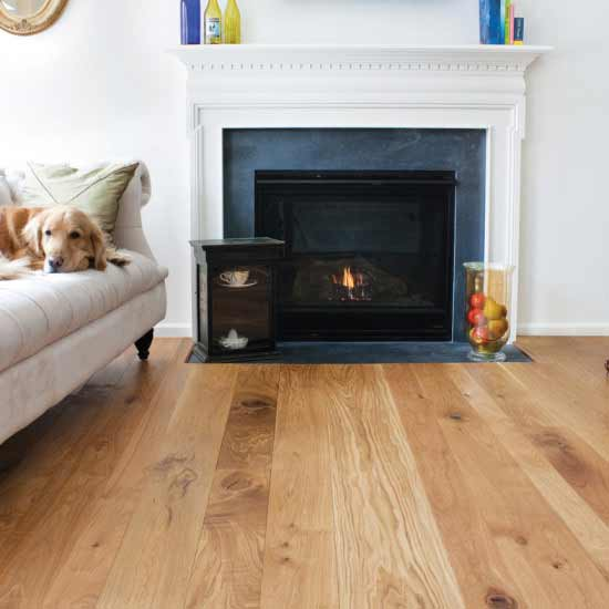 Character Grade White Oak with Clear Finish