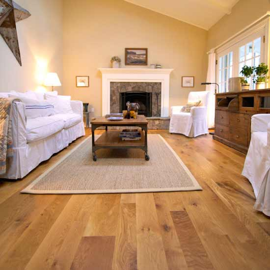 Character White Oak Flooring with Natural Finish
