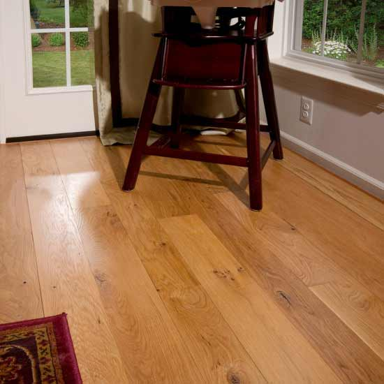 Character White Oak Flooring with Clear Finish