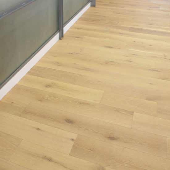 Character White Oak Flooring with Custom Light Finish