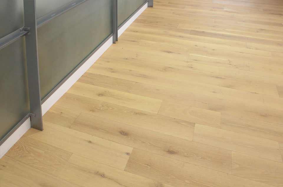 Character White Oak Flooring With Custom Light Finish
