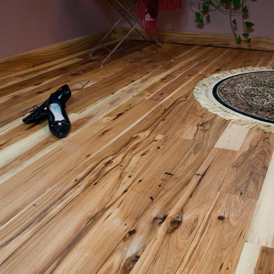 Reclaimed antique hickory mountain lumber company for Hickory flooring